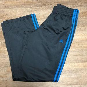 Adidas Dark Gray 3 Stripe Pants Medium